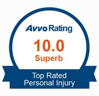 10.0 Superb Avvo Rating, Top Rated Personal Injury